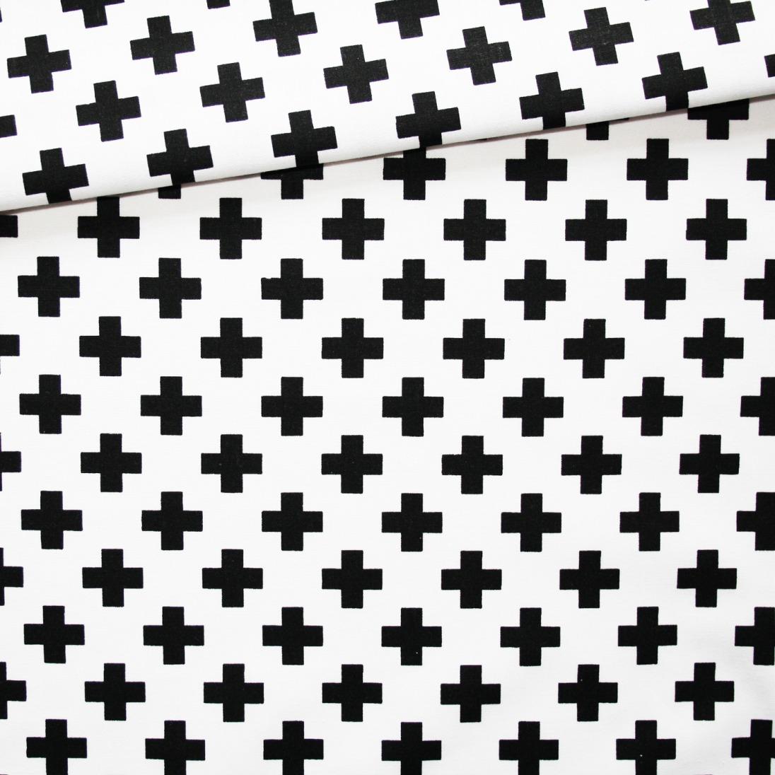 Tissu croix noires