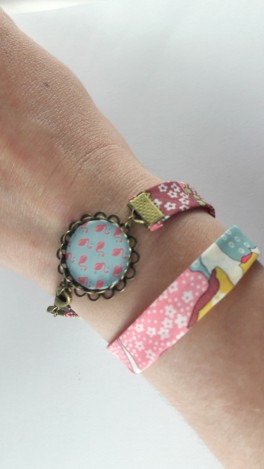 bracelet flamants roses