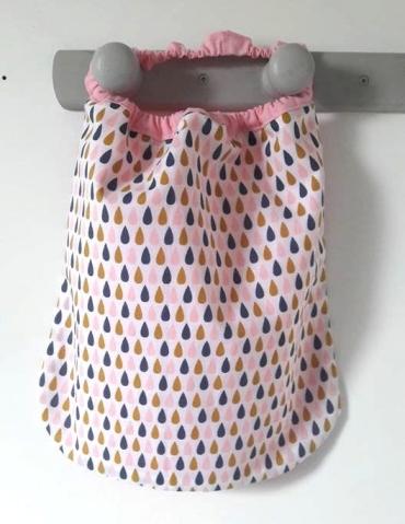 serviettes élastiquées gouttes pastels