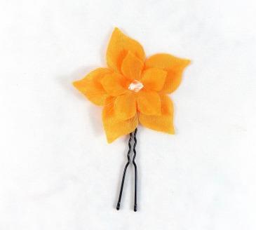pic à chignon fleur orange