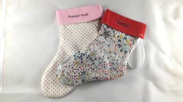 chaussettes de noël personnalisables