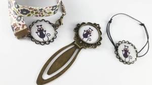 bijoux fantaisie chat noir griffures