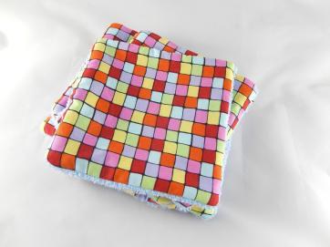 lingettes lavables colorés